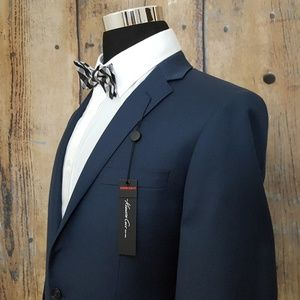 Kenneth Cole Slim Fit Sport Coat Mens 40L Blue
